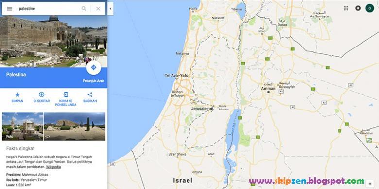 Nama Palestina Tidak Tercantumkan di Google Maps, Diakui Google