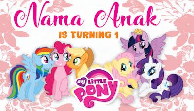 Contoh desain banner ultah tema little pony