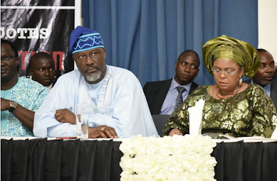 Patience Jonathan Spotted At Dino Melaye's Book Presentation Today (Photos)
