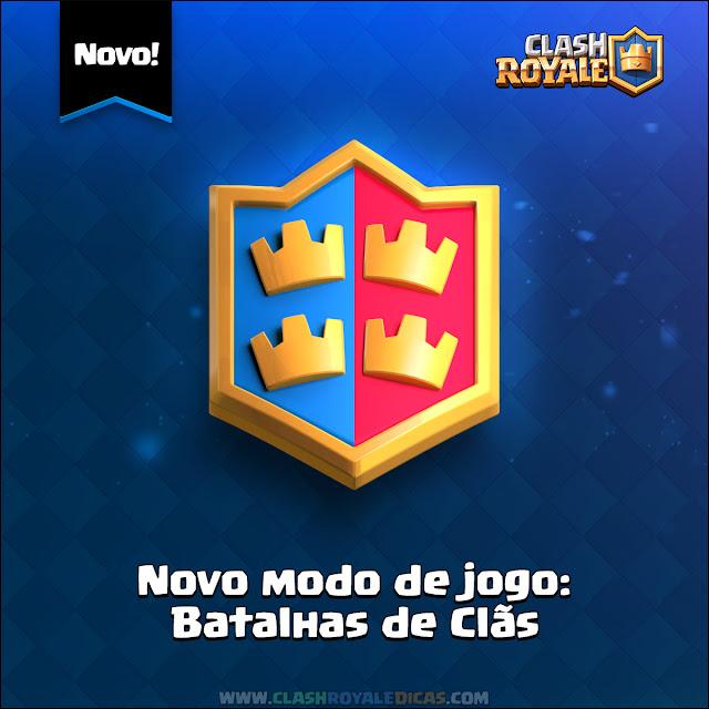 Batalha de Clãs próxima atualização Clash Royale