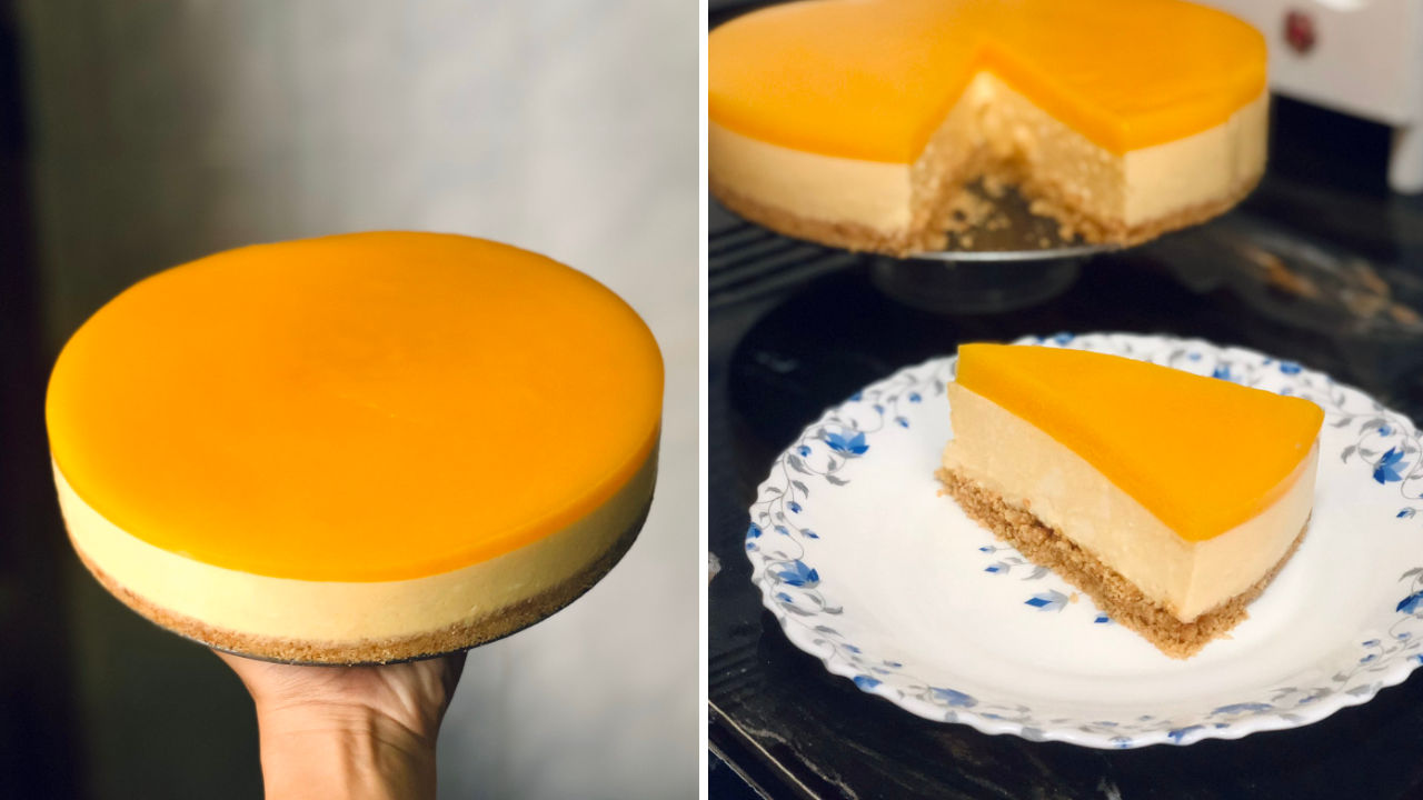 resepi manggo cheesecake