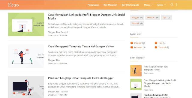 Fletro - Template Blog Super Keren