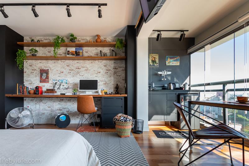 Salón comedor, cocina, dormitorio y despacho todo en 30 metros.