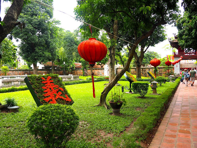 Gardens in the Temple of Literature, Hanoi, Vietnam