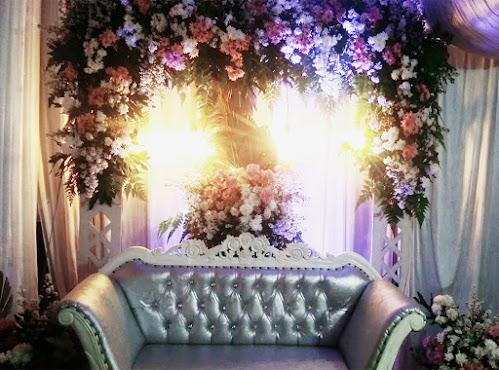 Backdrop untuk akad nikah dan acara lamaran