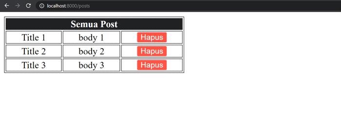 Cara Hapus Data MySQL di Laravel