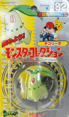 Chikorita  Pokemon figure Tomy Monster Collection series