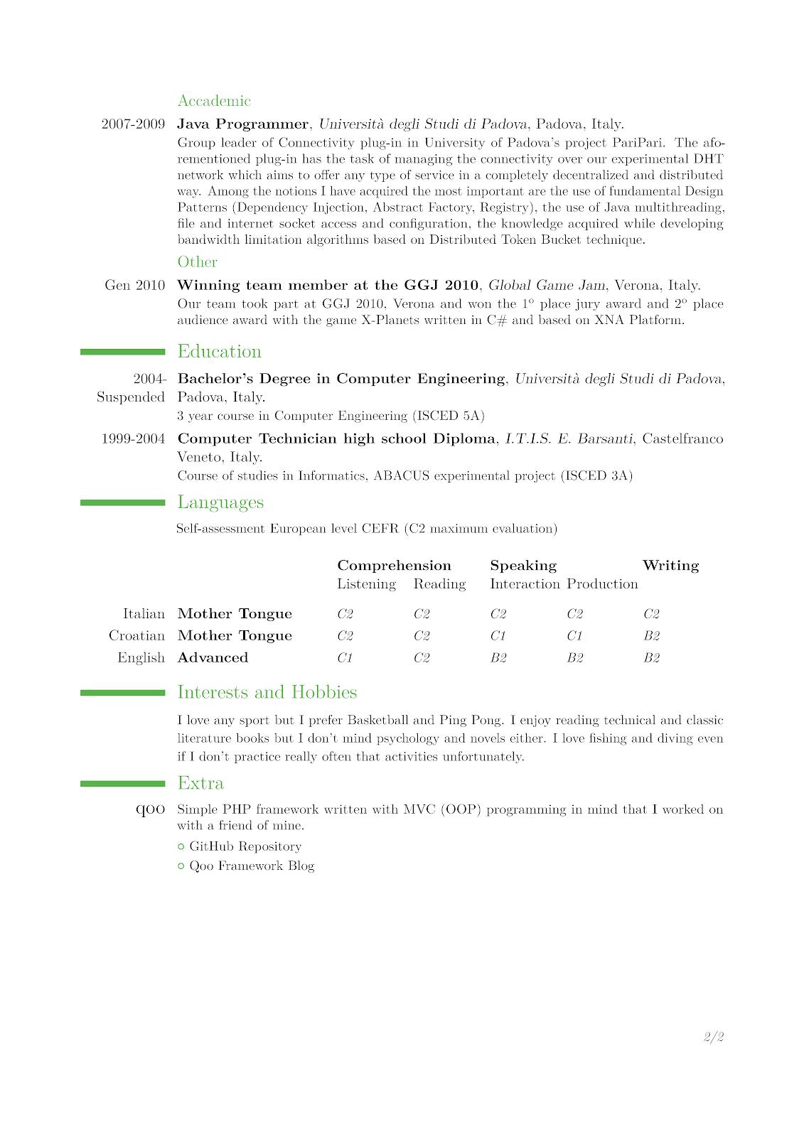 latex cv template based on moderncv class ntrp tech talk