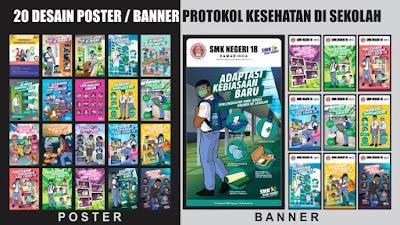 Banner Protokol Kesehatan di Sekolah
