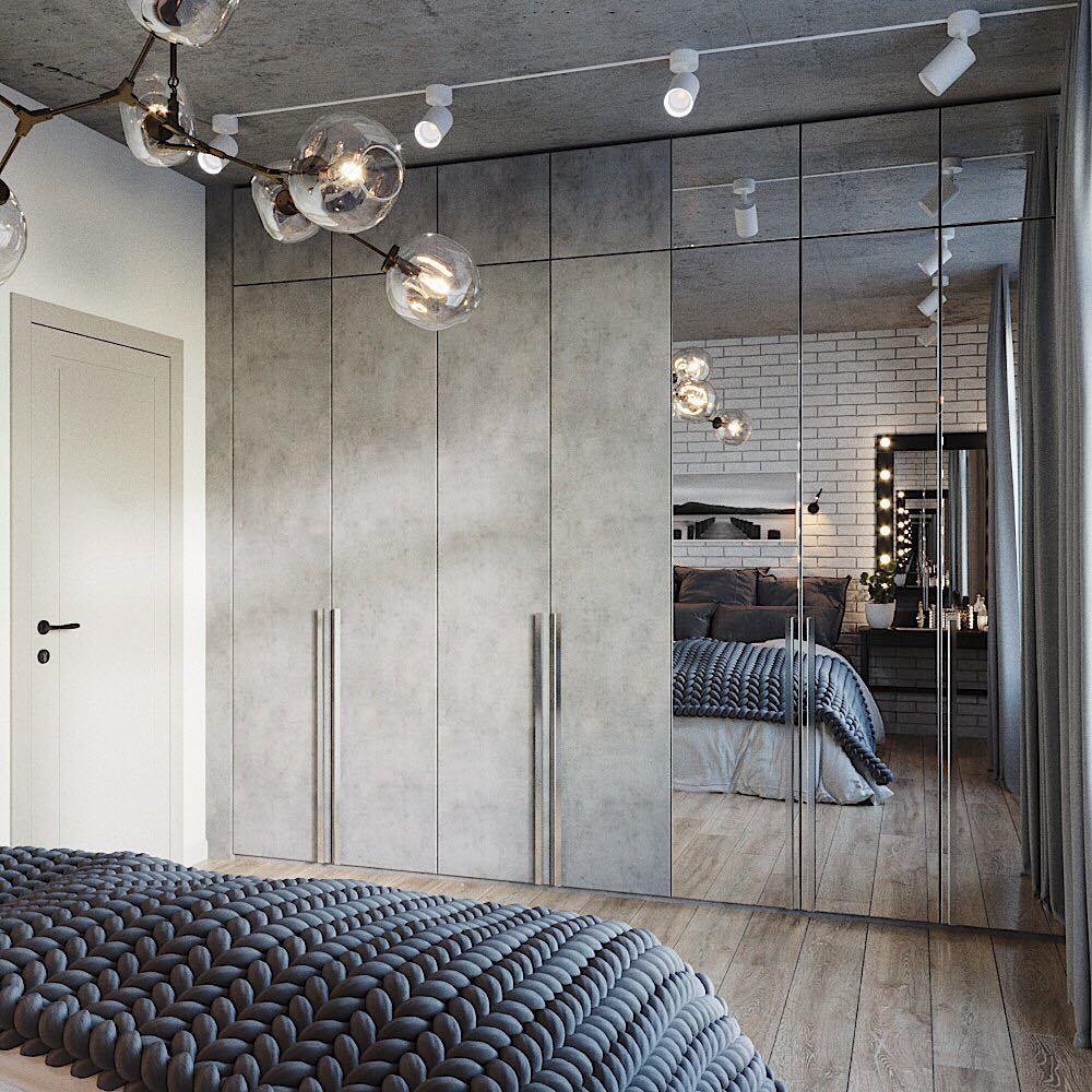 Phòng ngủ có tủ âm tường 11