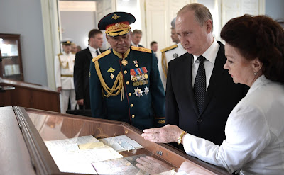 Vladimir Putin visited the historical building of the Admiralty.
