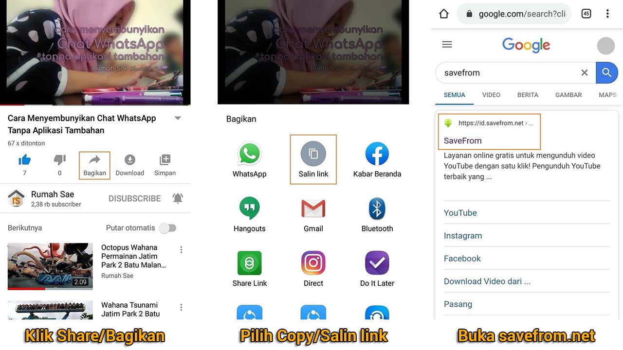 Cara Download Video YouTube pada PC dan Android Tanpa Instal Aplikasi Tambahan