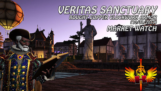 Shroud Of The Avatar Market Watch (10/31/2017) • Veritas Sanctuary - Bought Copper Clockwork Armor