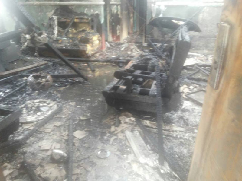 Building razed by fire in Benin, faulty air conditioner fingered as cause
