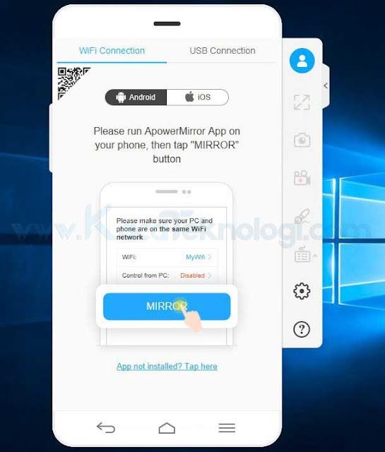Bagaimana cara menampilkan layar HP Android ke laptop / PC (mirroring) dengan menggunakan aplikasi tanpa harus root secara offline ? dan bisa menggunakan usb / kabel data, dan wifi.
