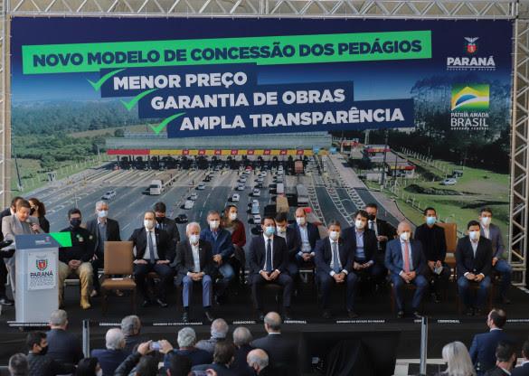 Presidente da Assembleia, Ademar Traiano, participa da solenidade de apresentação do novo modelo de Pedágio