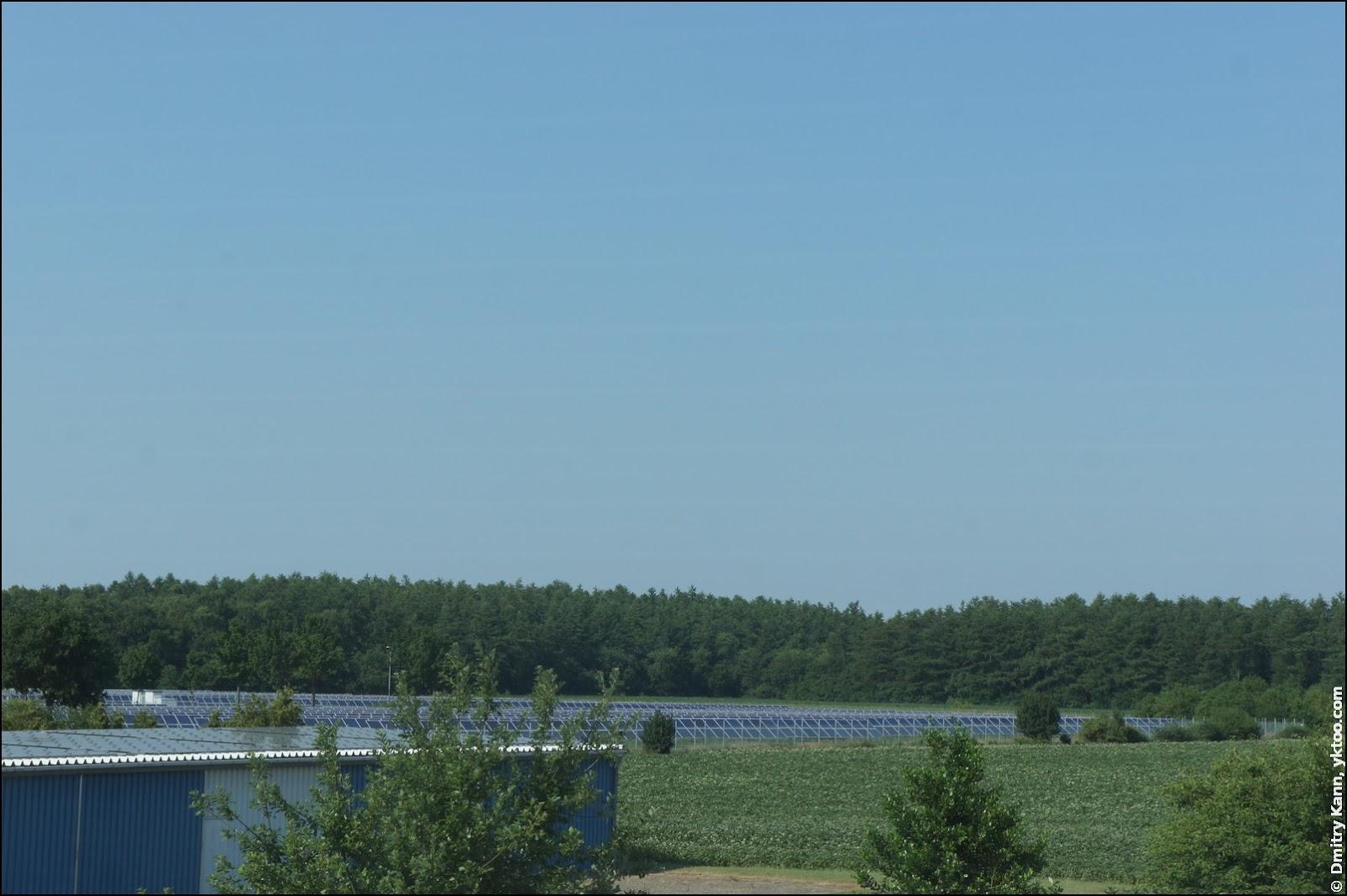 Solar farm near the airport.