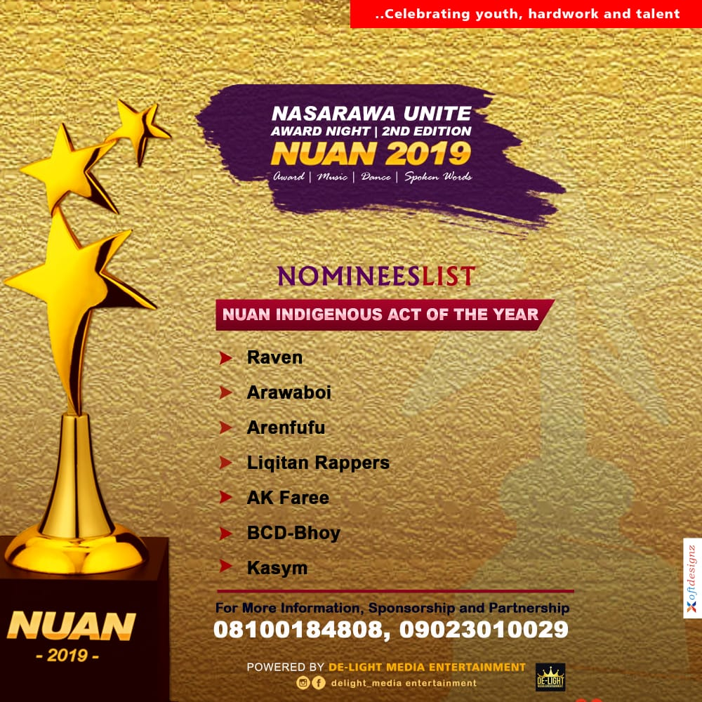 NUAN full nominees list is out, StarsNaija nominated (see list)