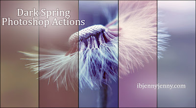 FREE DARK SPRING PHOTOSHOP ACTIONS