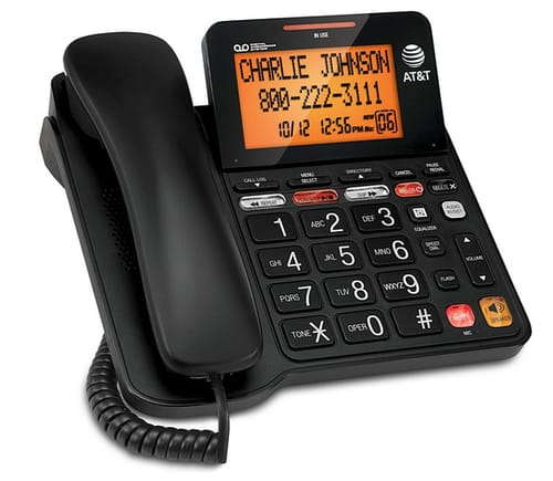 AT&T CD4930 Corded Phone with Digital Answering System