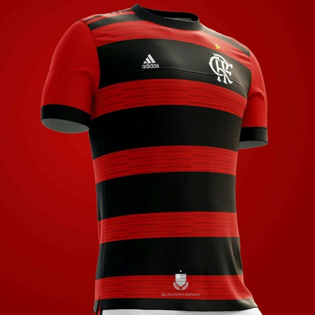 09ca70668c A Adidas divulgou o lançamento de uma linha casual de uniformes do Flamengo  e gerou dúvidas se aquela seria a nova camisa de jogo do clube.