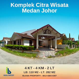 Jual rumah 2 lantai di Perumahan Citra Wisata Jl. Karya Wisata Medan Johor Medan Sumatera Utara