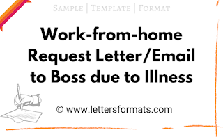 work from home request email sample