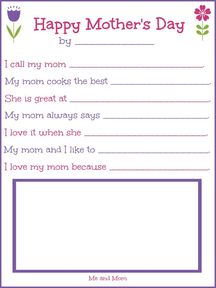 Free Printable Mothers Day Worksheets Coloring Pages Sheets – Online Worksheets