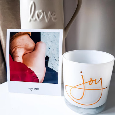 suporte de velas da yankee candle, joy, foto com a minha avo