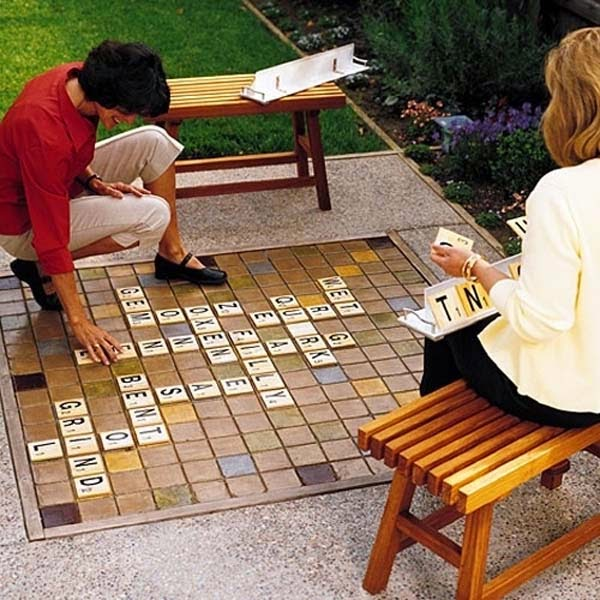 6.) Make a giant Scrabble set. - These 29 Do-It-Yourself Backyard Ideas For Summer Are Totally Awesome. Definitely Doing #10!