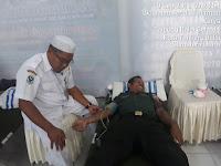 Dalam Rangka HUT TNI AL, Lanal Tanjung Balai Gelar Donor Darah, Yang Di Ikuti Babinsa Koramil 17/DB