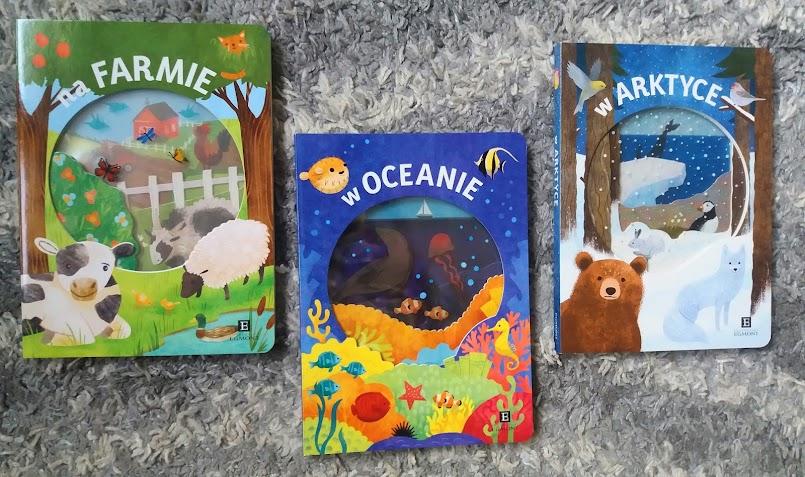 """Książeczki dla maluchów: """"Na farmie"""", """"W oceanie"""" i """"W Arktyce"""""""
