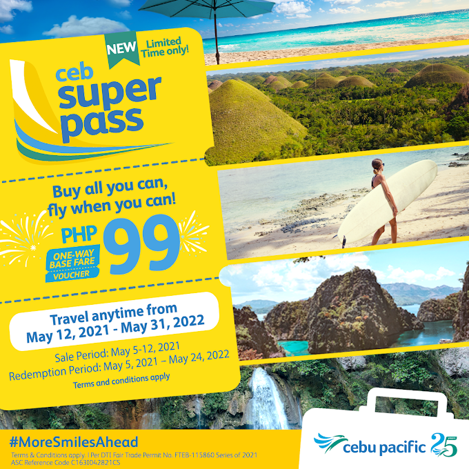 For only PHP 99 -  Buy all you can, fly when you can with the CEB Super Pass