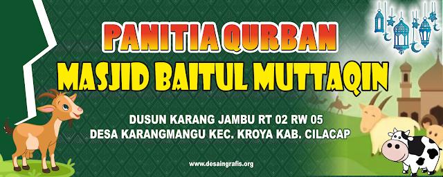 Desain Banner Panitia Qurban Idul Adha cdr | Kumpulan ...