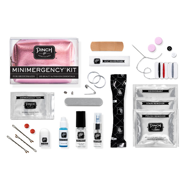 METALLIC MINIMERGENCY KIT, pinch provisions