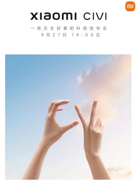 Nova série Civi da Xiaomi será revelada a 27 de setembro