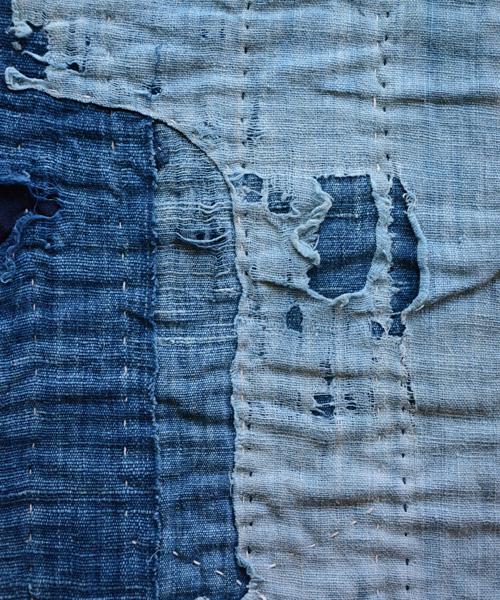 襤褸 刺し子 藍染 古布 継ぎ接ぎ ジャパンヴィンテージ FUNS Japanese Vintage Boro Sashiko Crazy Patchwork Indigo Fabric Folk Art