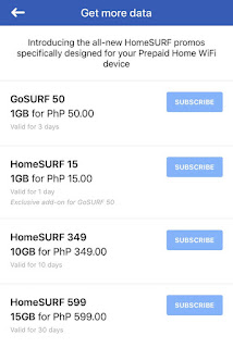 Globe at Home Prepaid HomeSurf 15