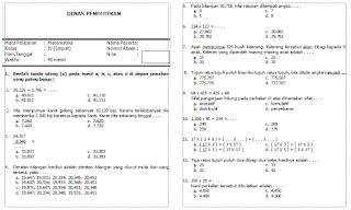 Soal Matematika Kelas 4 SD