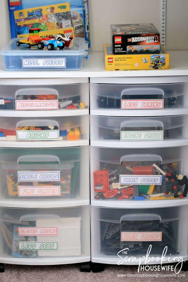 The Best Way to Sort & Organize Lego from The Scrapbooking Housewife