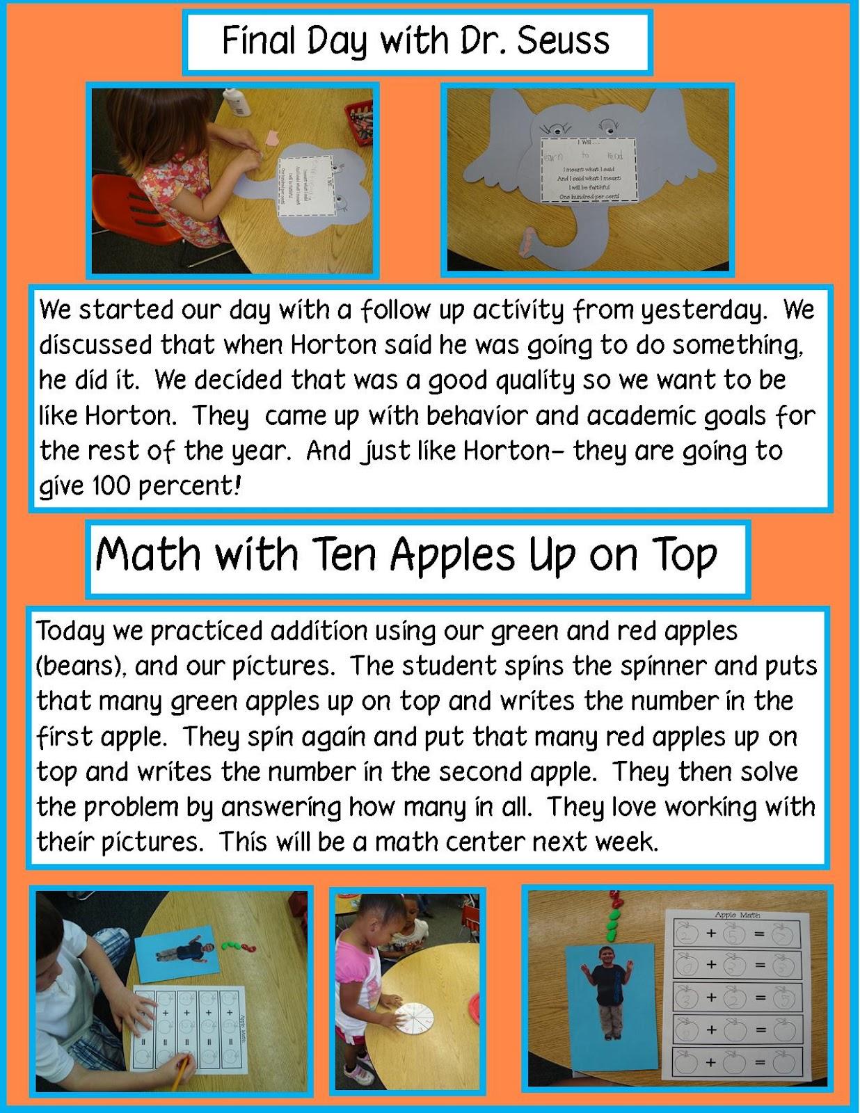 Golden Gang Kindergarten Dr Suess And Math Freebie