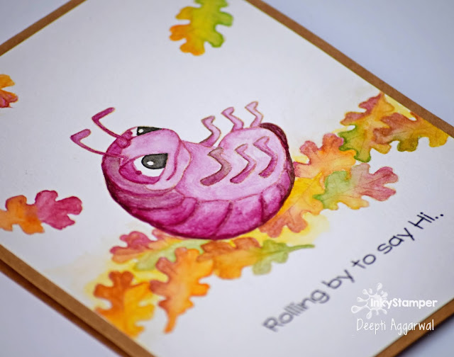 No - line coloring on pill bug card