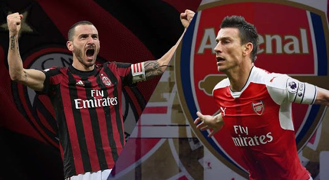 Hasil Pertandingan AC Milan vs Arsenal