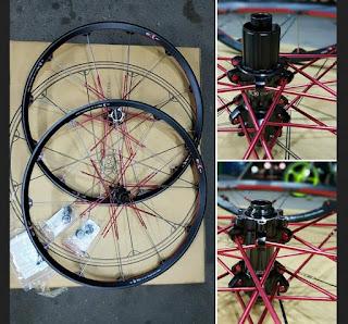 Wheelset 27.5 Crankbrother Cobalt3 Black Red
