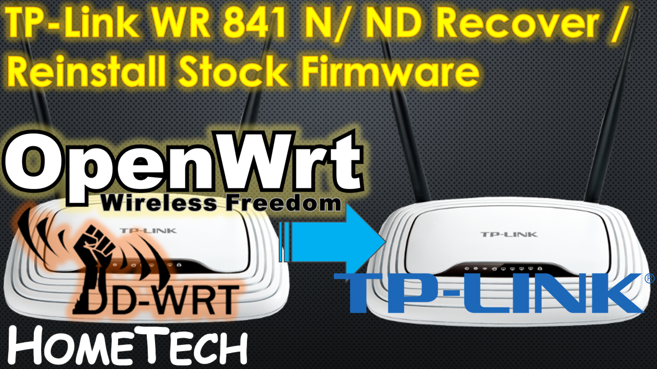 TP Link - Reinstall / Restore to OEM factory stock firmware from