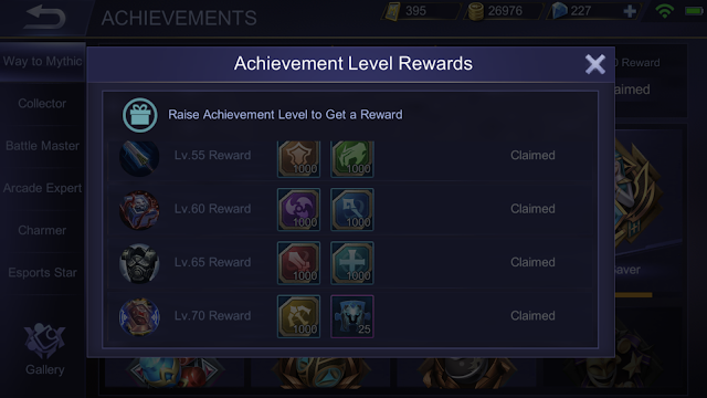 Mobile Legends Achievements