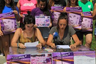 Presentación de los actos feministas para las fiestas del Carmen