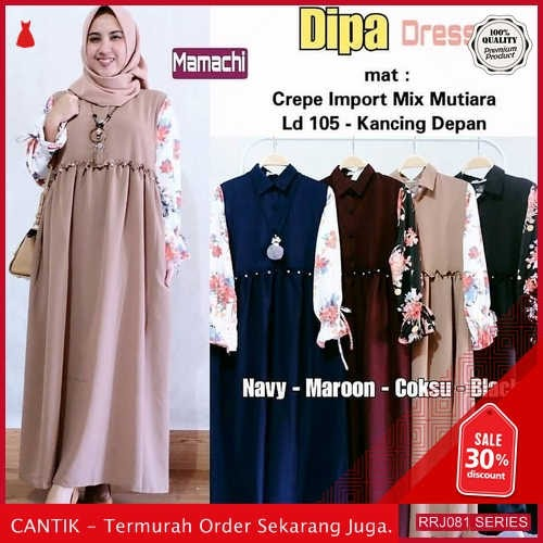 Jual RRJ081D189 Dress Dipa Dress Wanita Sk Terbaru Trendy BMGShop