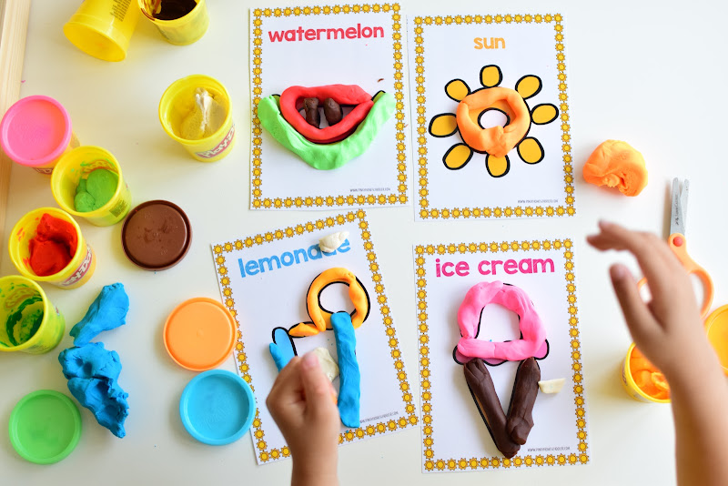 SUMMER THEMED LEARNING: PICTURE DOUGH MATS