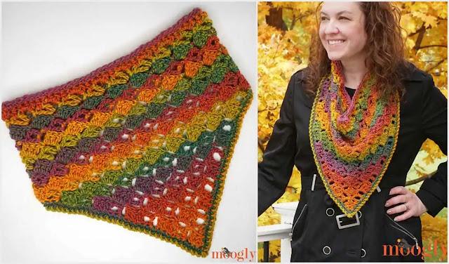 "Cómo Tejer a Crochet una Bufanda o ""Bandana Cowl"" a Crochet"